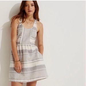 Lou & Grey Linen Blend Striped Dress
